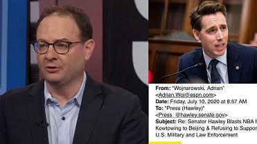 Dziennikarz ESPN zajmujący się NBA, Adrian Wojnarowski obraził senatora stanu Missouri
