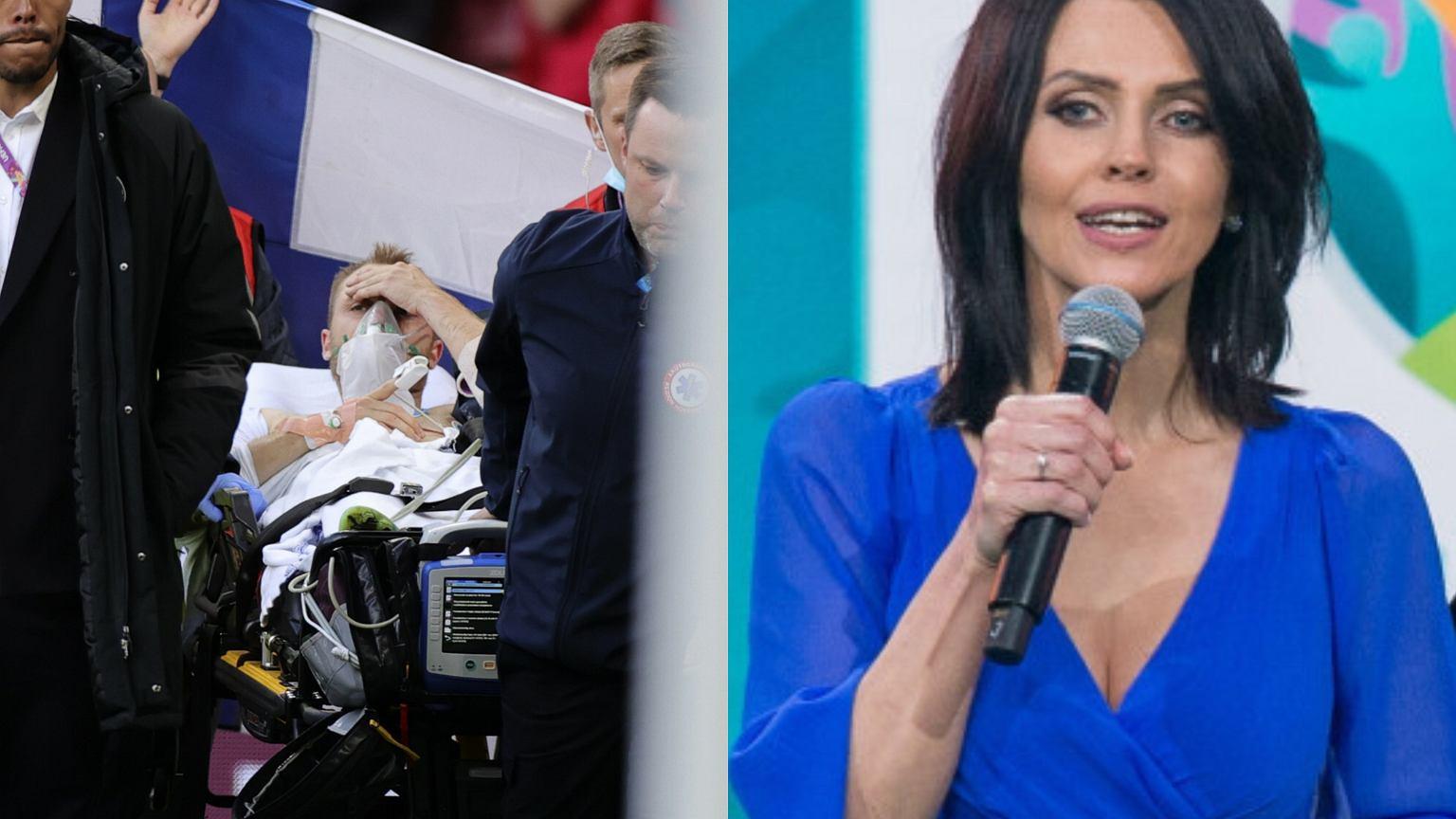Christian Eriksen miał atak serca. Sylwia Dekiert z TVP