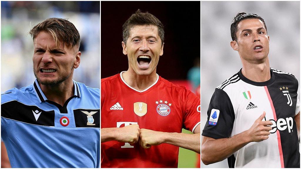 Ciro Immobile, Robert Lewandowski i Cristiano Ronaldo