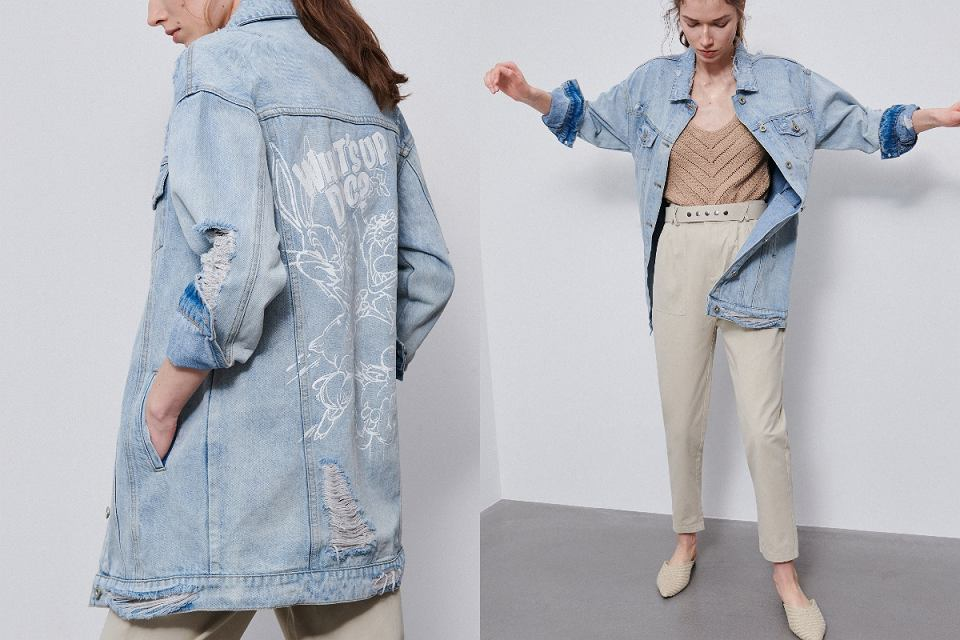 Kurtki jeansowe oversize