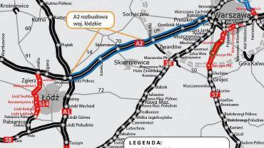 Autostrada A2 - poszerzenie do trzech pasów w każdym kierunku