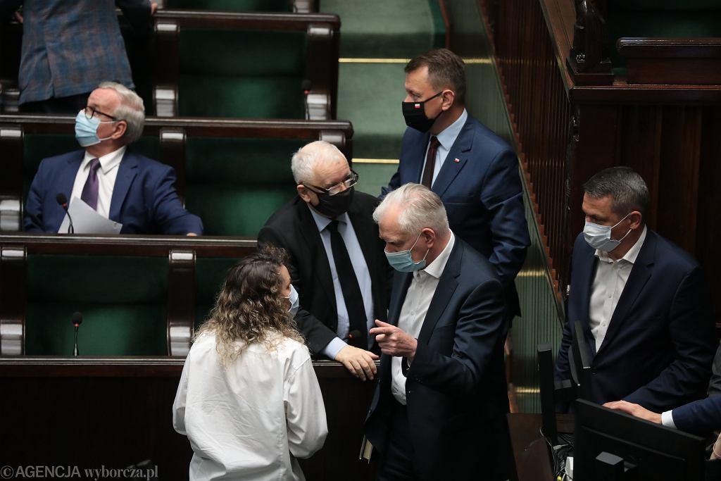 Politycy PiS w Sejmie 24 czerwca