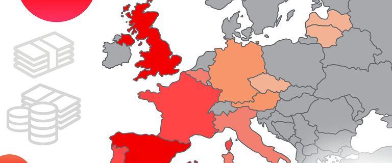 Fala czerwieni na gospodarczej mapie Europy. Mocne spadki PKB