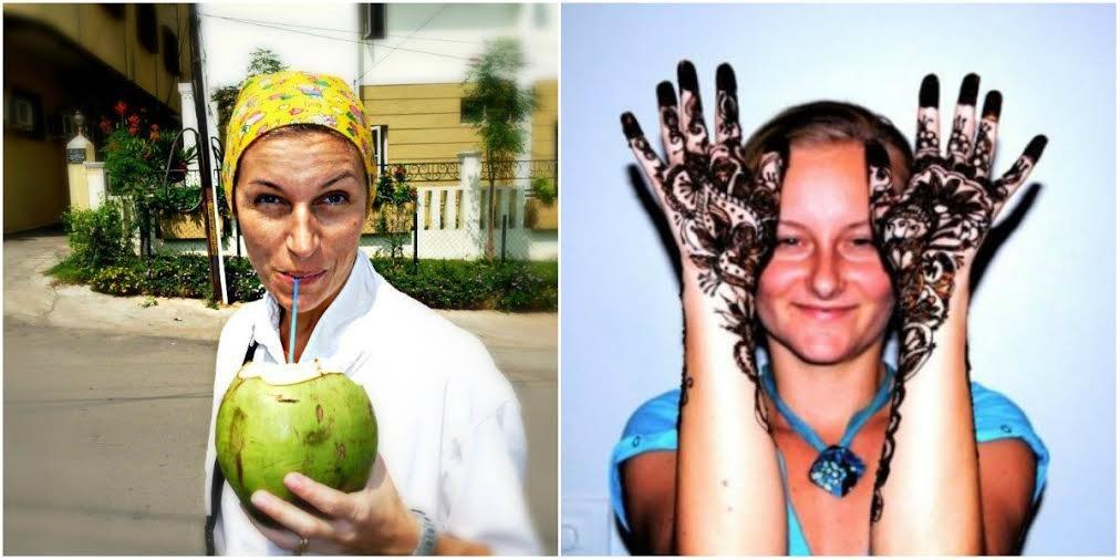 Magda (z lewej) i Karolina - Polki od lat mieszkające w Indiach