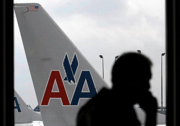 Samolot American Airlines na lotnisku w Chicago