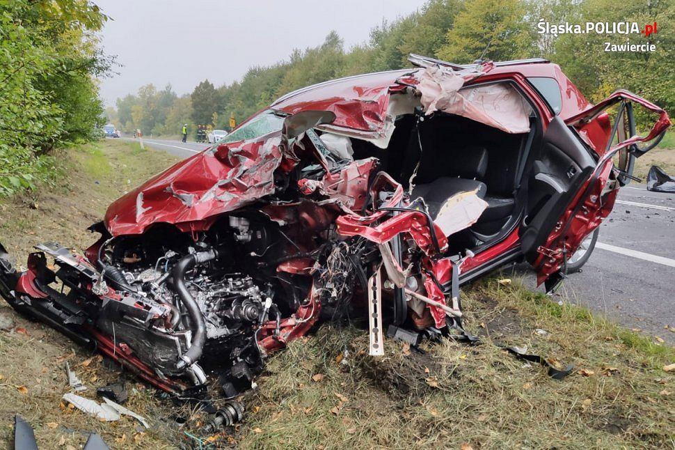W tragicznym wypadku na DK78 w Zawierciu zginął 43-latek