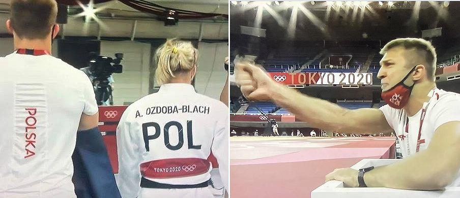 Agata Ozdoba-Błach i jej mąż, a także trener Łukasz Błach