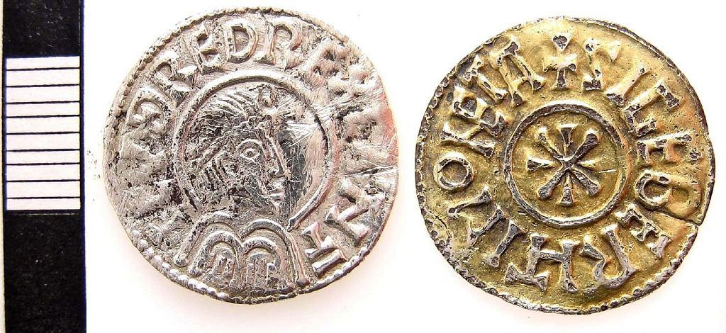 Anglo-saksońska moneta datowana na lata 798-807 (zdjęcie ilustracyjne)