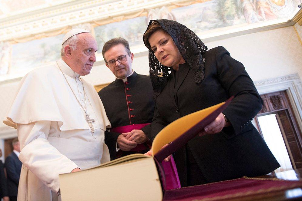 Beata Szydło w Watykanie