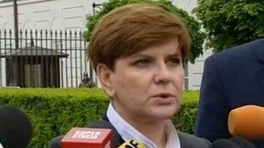 Beata Szydło po spotkaniu z Jackiem Michałowskim