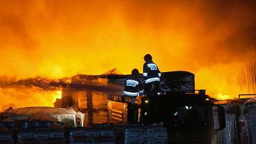 Pożar sortowni śmieci przy ul. Szczecińskiej