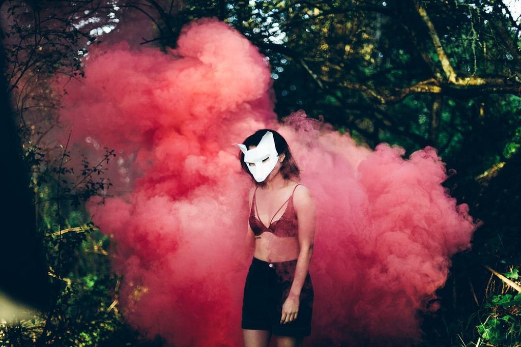 Makijaż na halloween - Diablica.