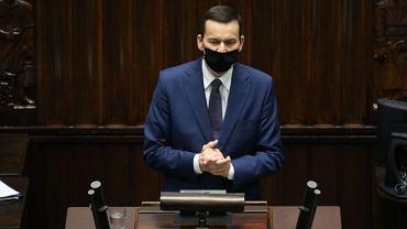 Mateusz Morawiecki w Sejmie. Informacja premiera na temat pandemii koronawirusa