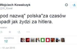 """Skandaliczny wpis Wojciecha Kowalczyka: """"PO jak Hitler"""""""