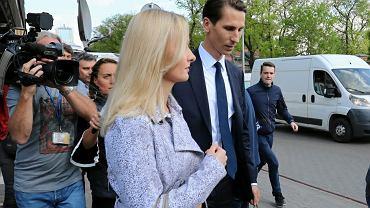 Kandydat na prezydenta Gdańska Kacper Płażyński z przyszłą żoną