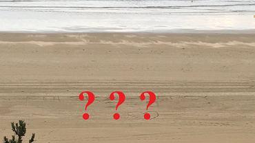 Tajemnicze znaki na plaży