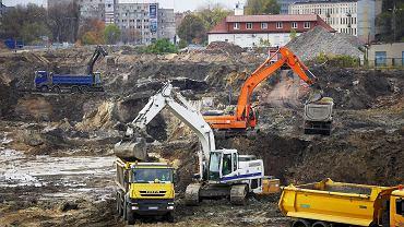 Teren budowy nowego dworca Łódź Fabryczna