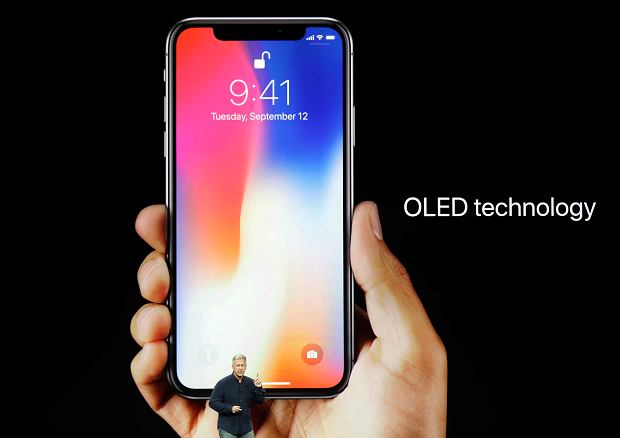 Craig Federighi, Apples senior vice president of software engineering, discusses features of the new iPhone X at the Steve Jobs Theater on the new Apple campus on Tuesday, Sept. 12, 2017, in Cupertino, Calif.