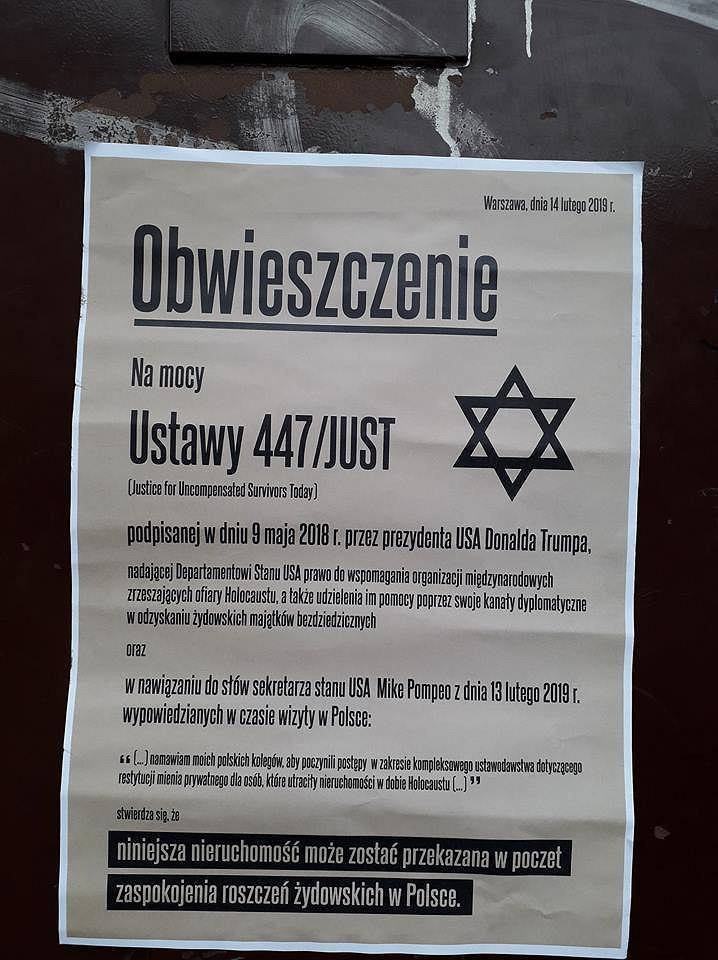 To Narodowcy Stoją Za Antysemickimi Plakatami Na Niebuszewie