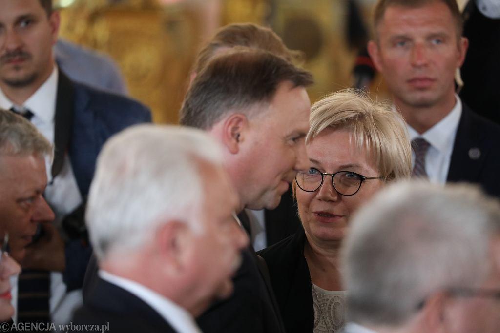 Andrzej Duda i Julia Przyłębska (lipiec 2020)
