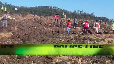 10.03.2019, Debre Zeit, Etiopia, miejsce katastrofy etiopskiego Boeinga 737, który rozbił się w chwilę po starcie z Addis Abeby.