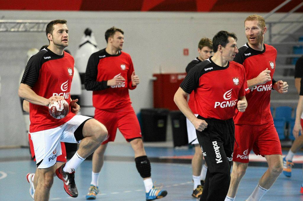 Trening polskich piłkarzy ręcznych w Płocku