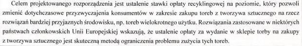 Ministerstwo Środowiska chce zmienić przyzwyczajenia Polaków w kwestii używania toreb
