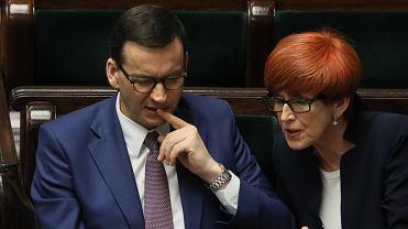 Premier Mateusz Morawiecki i Elżbieta Rafalska