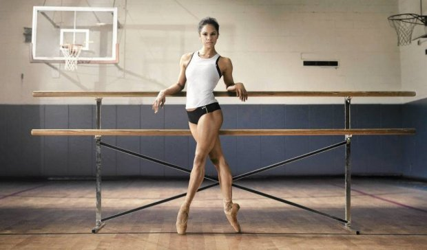 Misty Copeland, a soloist in the American Ballet Theatre, in Under Armour's I WILL WHAT I WANT(TM) campaign. (PRNewsFoto/Under Armour) THIS CONTENT IS PROVIDED BY PRNewsfoto and is for EDITORIAL USE ONLY** Fot. PRNewsFoto/Under Armour/AP SLOWA KLUCZOWE: CONSUMER;SPORT