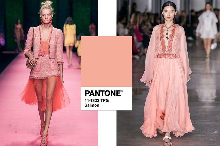 ccb54ff609e6b Z czym nosić łososiową sukienkę  Pastelowy pomarańcz to hit z wybiegów!