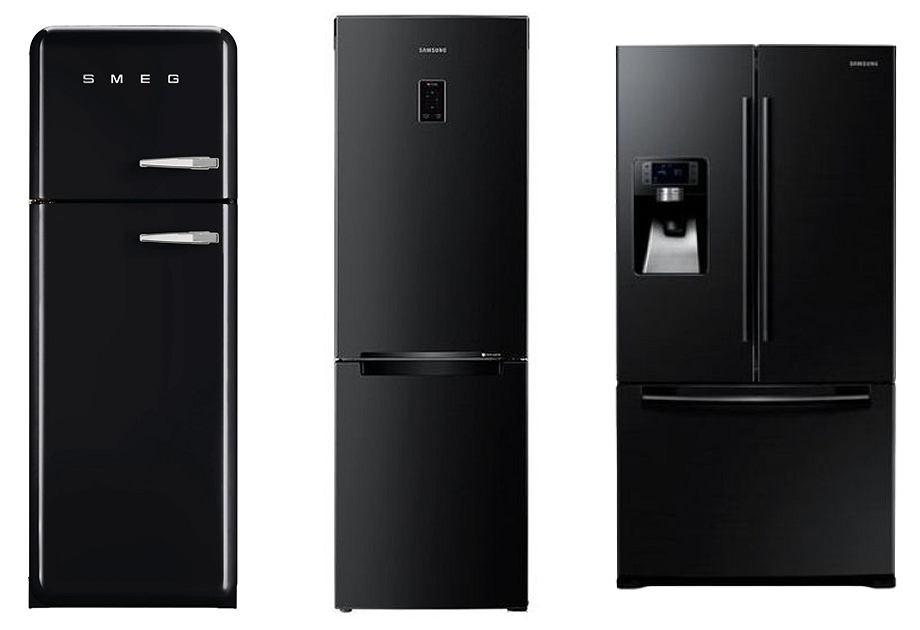 Czarna lodówka Smeg / Czarna lodówka Samsung / Czarna lodówka dwudrzwiowa