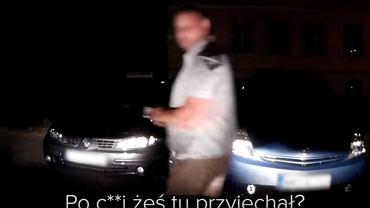 Fragment nagrania z kamery kierowcy Ubera