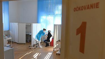 13.02.2021 Słowacja, Koszyce. Punkt szczepień przeciw Covid-19