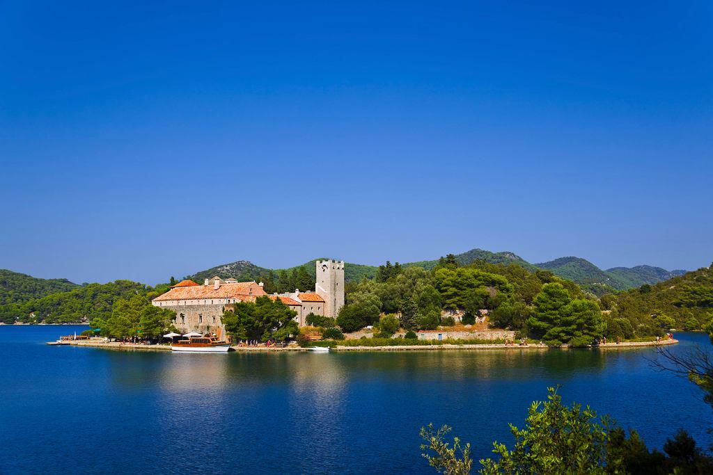 Klasztor na wyspie Mljet w Chorwacji