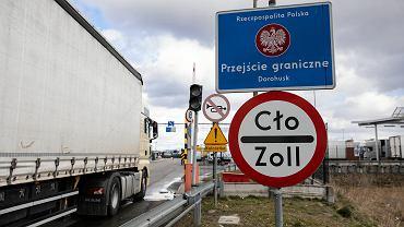 Dorohusk. Kolejka samochodów na przejściu granicznym z Ukrainą