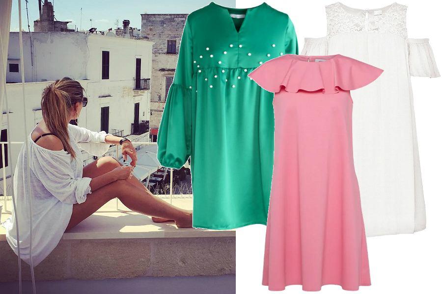 Proste sukienki na lato - gładkie