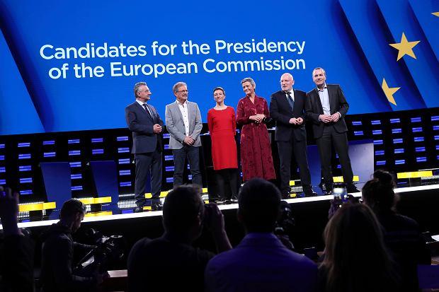 Debata kandydatów na szefa Komisji Europejskiej