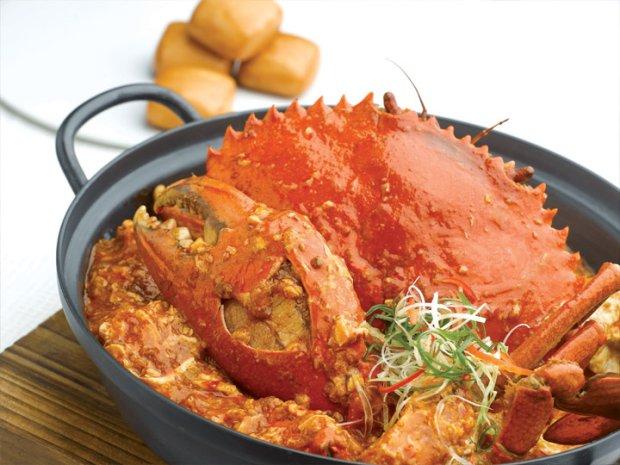 Chilli crab w restauracji Jumbo