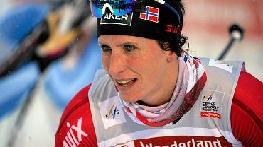 Marit Bjorgen w biegu na 5 km w Kuusamo