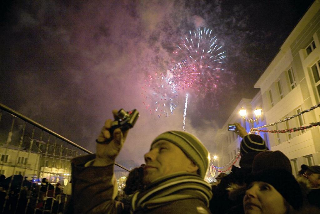 Pokaz fajerwerków w Białymstoku