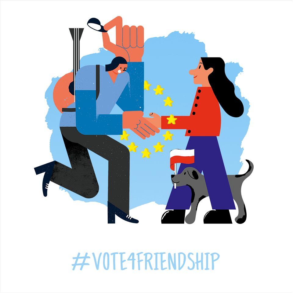 Europejski Plakat Z Piątkową Wyborczą Europa Na Tak I