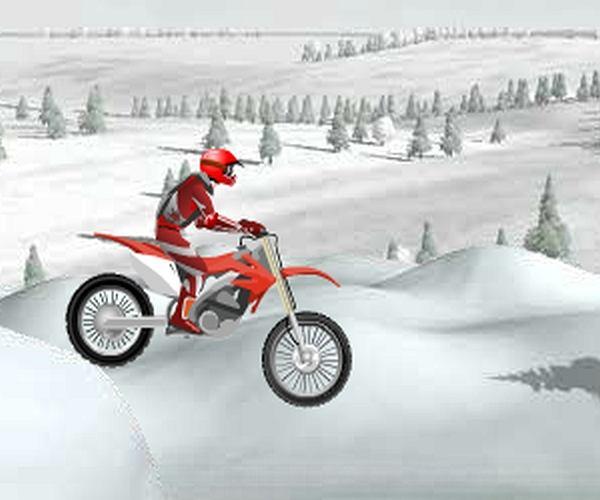 Zimowa jazda motocrossem
