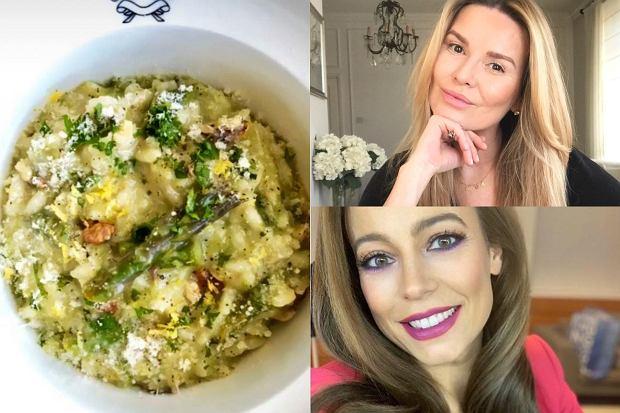 Hanna Lis i Anna Mucha gotują na Instagramie. Wspólnie zrobiły pyszne wiosenne risotto ze szparagami