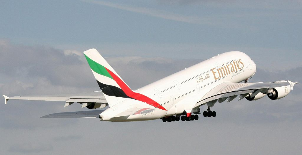 Największy samolot pasażerski świata Airbus A380 linii Emirates