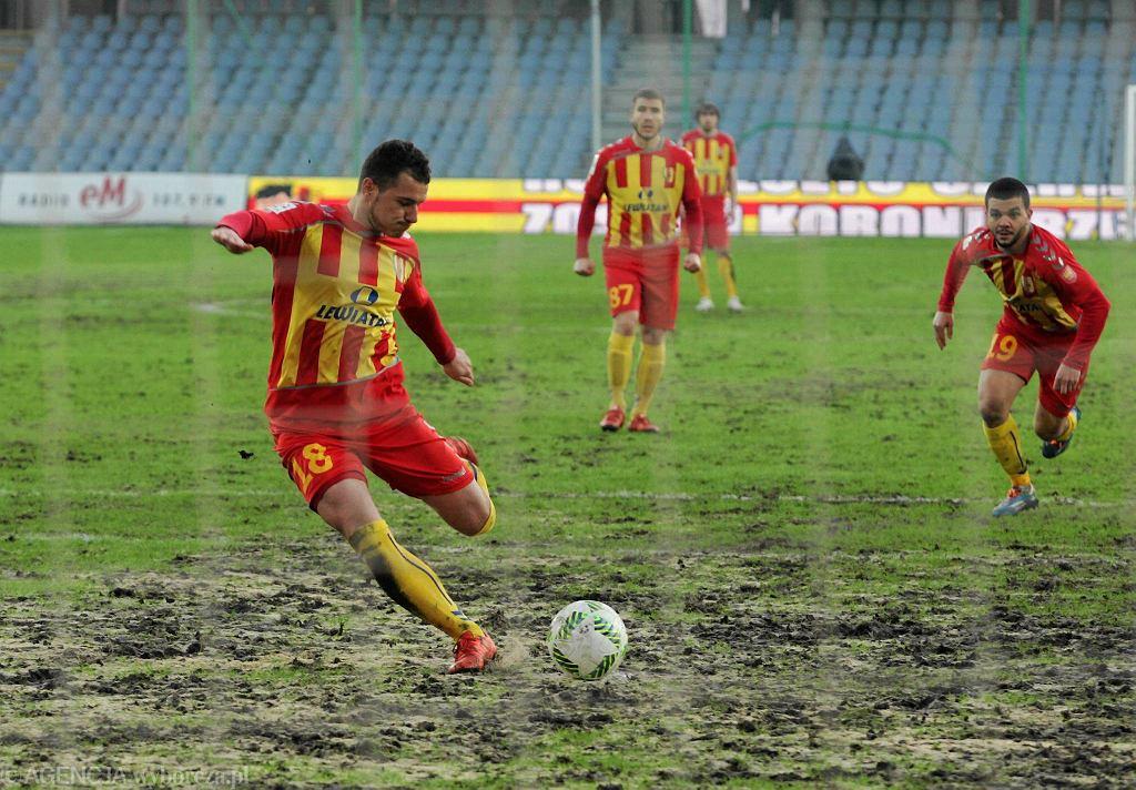 Airam Cabrera podczas meczu Korona Kielce - Lechia Gdańsk
