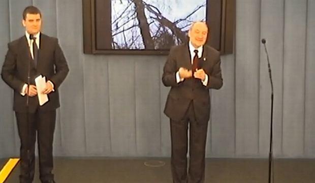 Antoni Macierewicz na dzisiejszej konferencji w Sejmie