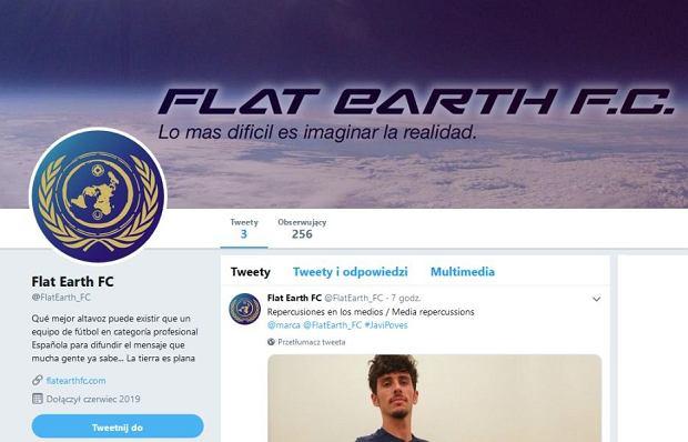 Oficjalna profil klubu Flat Earth FC na Twitterze