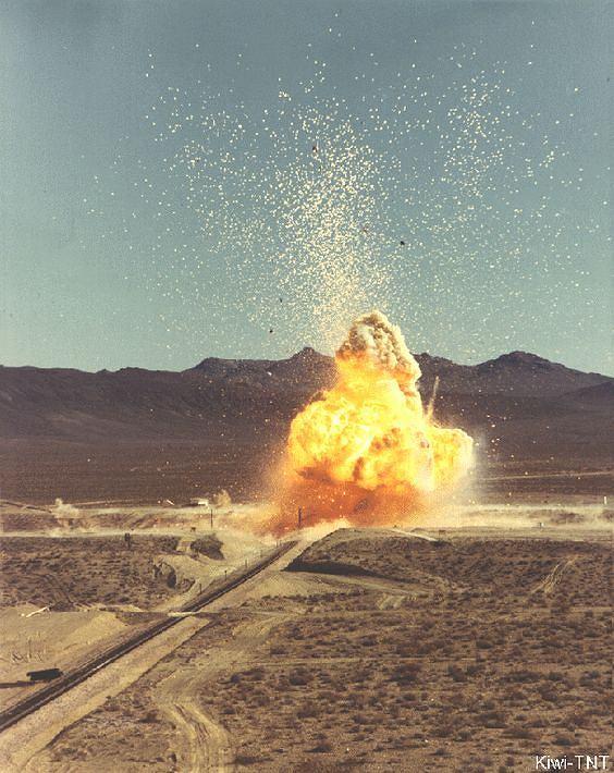 Celowo wywołana eksplozja jednego z reaktorów KIWI, której celem była ocena skutków najbardziej katastrofalnego z możliwych wypadków silnika nuklearno-cieplnego