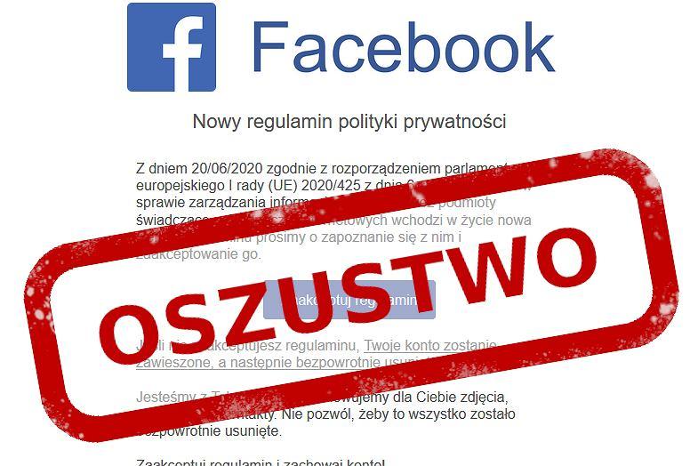 Uwaga na nowe oszustwo na Facebooku