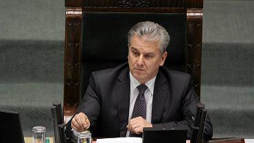 Wicemarszałek Sejmu Cezary Grabarczyk prowadzi debatę o związkach partnerskich